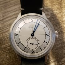 Longines Heritage pre-owned 39mm Silver Leather