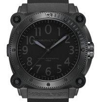 Hamilton Titanium Automatic Black 46mm new Khaki Navy BeLOWZERO