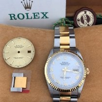 Rolex Datejust Or/Acier 36mm Blanc