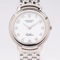 Rolex Cellini Белое золото 37mm Белый Aрабские