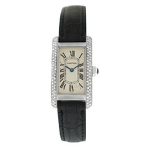 Cartier Tank Américaine White gold 19mm White Roman numerals United States of America, New York, New York