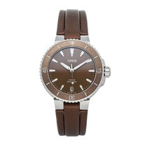 Oris Steel Automatic Brown No numerals 36.5mm pre-owned Aquis Date