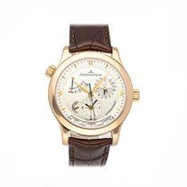 Jaeger-LeCoultre Rose gold Automatic Silver No numerals 40mm pre-owned Master Geographic