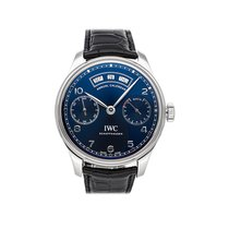 IWC Portuguese Annual Calendar Steel 44.2mm Blue United States of America, Pennsylvania, Bala Cynwyd
