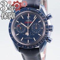 Omega Céramique Remontage automatique Bleu 44mm occasion Speedmaster Professional Moonwatch Moonphase
