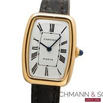 Cartier Tonneau Gelbgold 20mm Weiß Römisch