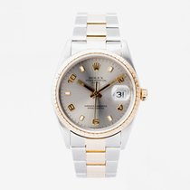 Rolex Oyster Perpetual Date Gold/Steel 34mm Grey No numerals United Kingdom, Guildford,Surrey