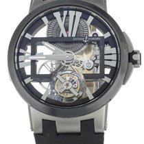 Ulysse Nardin Titanium Manual winding Transparent 45mm pre-owned Executive Skeleton Tourbillon