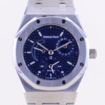 Audemars Piguet Royal Oak Dual Time occasion 36mm Bleu Date GMT Acier
