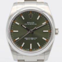 Rolex Oyster Perpetual 34 Stål 34mm Grøn Arabertal
