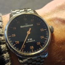 Meistersinger N° 03 Steel 43mm Black Arabic numerals
