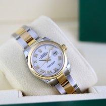 Rolex Lady-Datejust Or/Acier 28mm Blanc Romains France, Cannes