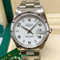 Rolex Oyster Perpetual Date Steel 34mm White Arabic numerals United Kingdom, Wilmslow