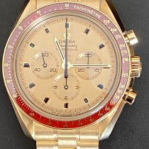 Omega Yellow gold Manual winding Yellow No numerals 42mm new Speedmaster