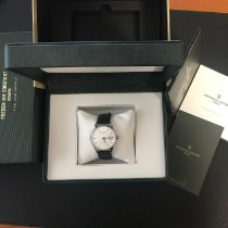 Frederique Constant Classics Index pre-owned 40mm Silver Date Leather