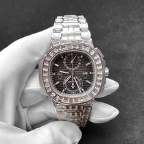 Patek Philippe Nautilus White gold 40.5mm Black No numerals