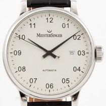 Meistersinger Scrypto pre-owned 43mm Silver Date Crocodile skin