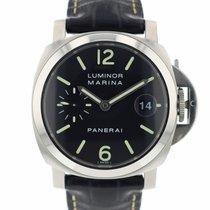 Panerai Luminor Marina Automatic Сталь 40mm Черный Aрабские