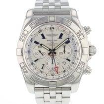 Breitling Chronomat GMT Steel 47mm Silver Arabic numerals