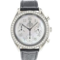 Omega Speedmaster Ladies Chronograph Stahl 39mm Perlmutt Arabisch