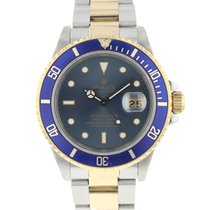 Rolex Submariner Date 16803 Very good Gold/Steel 40mm Automatic