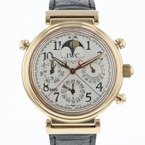 IWC Da Vinci Perpetual Calendar Roséguld 41.5mm Silver Arabiska