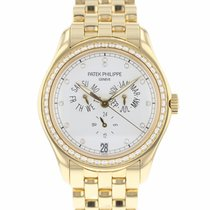 Patek Philippe Annual Calendar Or jaune 37mm Blanc Arabes