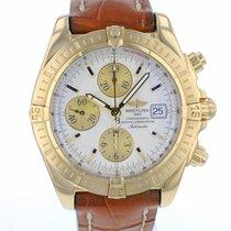 Breitling Chronomat Evolution Gelbgold 44mm Silber Arabisch
