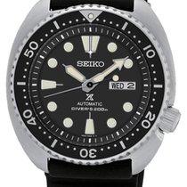 Seiko Prospex Aço 45mm Preto Sem números