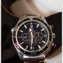 Omega Acier Remontage automatique Noir Arabes 45.5mm occasion Seamaster Planet Ocean Chronograph