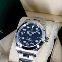 Rolex Air King Staal 40mm Zwart Arabisch Nederland, Maastricht