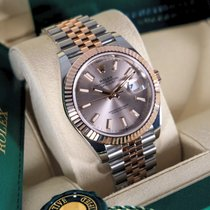 Rolex Datejust II Goud/Staal 41mm Roze Geen cijfers Nederland, Maastricht
