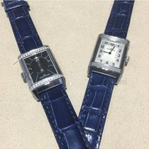 Jaeger-LeCoultre Reverso Classic Small Duetto Stahl 34.2mm Silber Arabisch