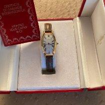 Cartier Tonneau Gelbgold 21mm Silber Römisch