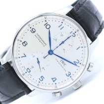 IWC Portuguese Chronograph Acier Blanc Arabes