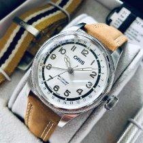 Oris Big Crown Pointer Date Acier 40mm Blanc Arabes