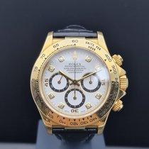 Rolex Daytona Желтое золото 40mm Белый Aрабские