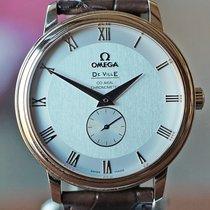 Omega Red gold Roman numerals 39mm pre-owned De Ville Prestige