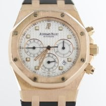 Audemars Piguet Royal Oak Chronograph Oro amarillo 39mm Blanco Sin cifras
