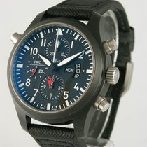 IWC Pilot Chronograph Top Gun Steel 44mm Black Arabic numerals
