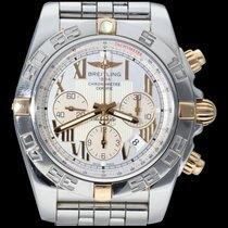 Breitling Chronomat 44 Or/Acier 44mm Blanc Romains
