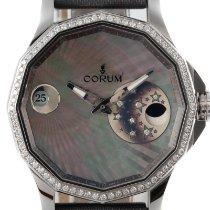 Corum Admiral's Cup Legend 38 usados 38.5mm Madreperla Fase lunar Fecha Textil