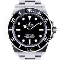Rolex Submariner (No Date) Acero 41mm Negro Sin cifras