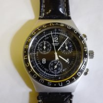 Swatch Aluminum Quartz Black Arabic numerals 4mm pre-owned