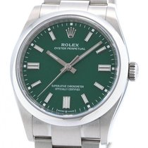 Rolex Oyster Perpetual 36 Otel 36mm Verde