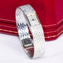 Cartier White gold Manual winding pre-owned