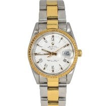 Rolex Oyster Perpetual Date 15053 Gut Gold/Stahl 34mm Automatik