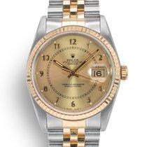 Rolex Datejust Or/Acier 36mm Champagne Sans chiffres