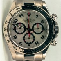 Rolex Daytona Or blanc 40mm Argent Arabes France, Saint Germain en Laye