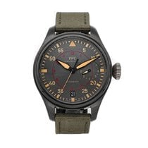 IWC Ceramic Automatic Grey Arabic numerals 48mm pre-owned Big Pilot Top Gun Miramar